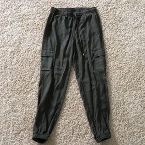 Mossimo Olive Green Flowing Cargo Pants.